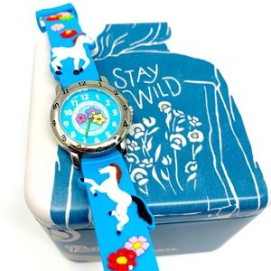 The Kids Watch Company Horse  Floral Watch NWOT